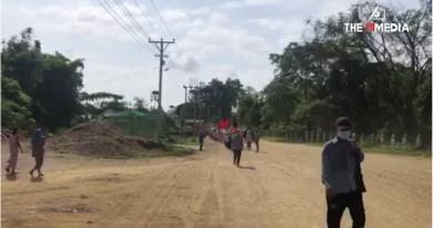 နေ့စဉ်မပြတ်ပြုလုပ်နေသည့် ဖားကန့်မြို့နယ် လုံးခင်းအုပ်စု၏ စစ်အာဏာရှင်စနစ် ဆန့်ကျင်ရေး ပြောက်ကျားသပိတ်
