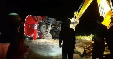 မီးငြှိမ်းသတ်ရန်သွားသည့် မီးသတ်ကားတစ်စီး တိမ်းမှောက်သဖြင့် မီးသတ်တပ်သားနှစ်ဦး သေဆုံး