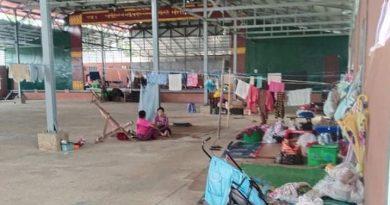 ဗန်းမော်မြို့ ရွှေကျေးနားရပ်ကွက်ရှိ စစ်ရှောင်ပြည်သူများ
