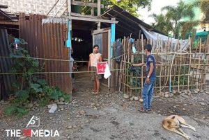 အီသွလ်အသွဟာအစ်(အစ်ကြီး)နေ့မြတ်၌ ဝိုင်းမော်မြို့တွင် Lockdown ပြုလုပ်ထားသောအိမ်များအတွက် ကချင်ပြည်နယ် အစ္စလာမ်လူငယ်ပရဟိတအသင်းမှ အသားထုတ်များကို  လိုက်ချိတ်ပေးခဲ့
