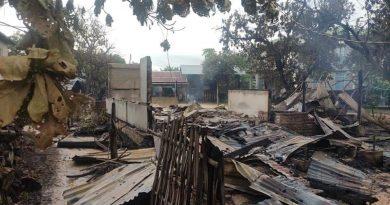 တန့်ဆည်မြို့နယ် ကျီကုန်း (တောင်) ကျေးရွာတွင် ဒေသခံများ၏ နေအိမ်ကို စစ်ကောင်စီမီးရှို့ဖျက်ဆီး